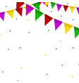 buntings garland with realistic flag vector image