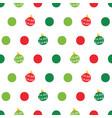 christmas balls and dots seamless pattern vector image vector image