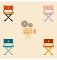 cinema producer seat vector image vector image