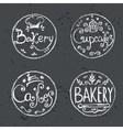 Collection of vintage retro hand draw bakery vector image vector image