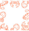 crab frame empty template vector image vector image