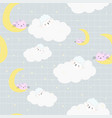 cute baby sheep in the cloud seamless pattern vector image