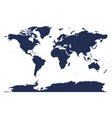 dark blue isolated detailed global map the vector image vector image
