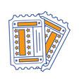 double tickets entrances vector image vector image