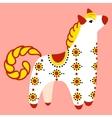 Dymkovo toy horse vector image vector image