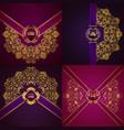 elegant golden frame banner vector image