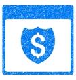 Financial Shield Calendar Page Grainy Texture Icon vector image vector image