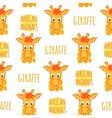 Giraffe orange seamless pattern vector image vector image