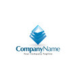 glass service logo design vector image