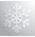 Glass snowflake Christmas vector image