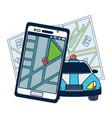 gps vehicle tracking vector image