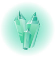 green mineral vector image
