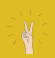 hand victory gesture sign win expression symbol vector image
