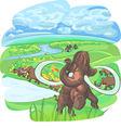 herd mammoths on plains vector image vector image
