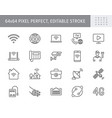 internet line icons include vector image vector image