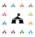 isolated tent icon outdoor element can be vector image vector image
