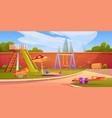 kids playground in summer park or kindergarten vector image vector image
