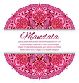 mandala card or invitation red wedding vector image