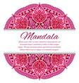 mandala card or invitation red wedding vector image vector image