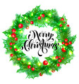 merry christmas calligraphy hand drawn text vector image vector image