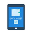 mobile banking digital wallet concept vector image vector image