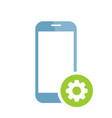 mobile phone icon with settings sign vector image