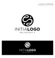 monogram initial e logo template black color vector image vector image