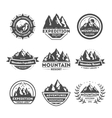 Mountain explorer vintage isolated label set vector image vector image