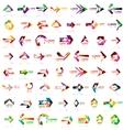 Paper style arrow logos vector image vector image