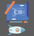 prototyping flat line design concept vector image vector image
