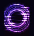purple circle digital abstract pixel background vector image vector image