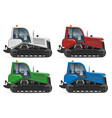 realistic tractor icons side view vector image