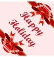 Red bows holiday background vector image vector image