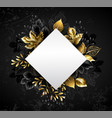 rhombus with golden leaves vector image vector image