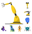 robot and factory logo set vector image