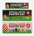 set easter sale special discount web banner vector image