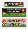 set of easter sale special discount web banner vector image vector image
