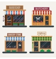 Set of shops Butchery candy store farm products vector image