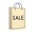 Shopping bag Sketch in doodle style vector image