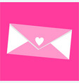 simple love letter icon and vector image vector image