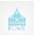 St Peter s Cathedral Rome Italy Hand drawn vector image vector image