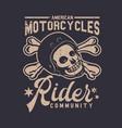 t shirt design american motorcycles rider vector image