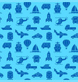 transport blue seamless pattern vector image