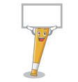 up board baseball bat character cartoon vector image vector image