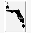 usa playing card 5 spades vector image