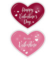 valentines with calligraphy vector image vector image