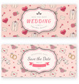 Wedding banner template vector image vector image