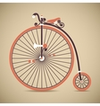 Penny Farthing Old Style Antique Bicycle vector image