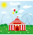 circus tent on nature vector image