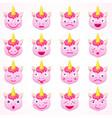 set of emoji unicorn vector image